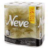 Papel Higiênico Folha Tripla Neutro Neve Supreme Pacote 20m Leve 24 Pague 21 Unidades