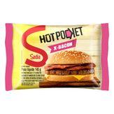 Sanduíche Congelado X-Bacon Hot Pocket Sadia Pacote 145g