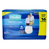 Roupa Íntima Descartável G/XG Unissex Plenitud Protect Plus Pacote 16 Unidades Embalagem Econômica