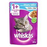 Alimento para Gatos Adultos 1+ Atum ao Molho Whiskas Sachê 85g
