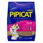 Areia Sanitária para Gatos Floral Pipicat Pacote 4kg