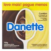 Danette de Chocolate ao Leite e Chocolate Branco Danone Bandeja de 720g com 8 Unidades Leve Mais Pague Menos