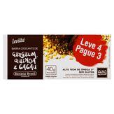 Barra de Cereal Crocante Gergelim, Quinoa e Cacau Zero Açúcar Levittá Caixa 4 Unidades