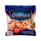 Camarão Descascado Cozido Congelado DellMare Pacote 200g