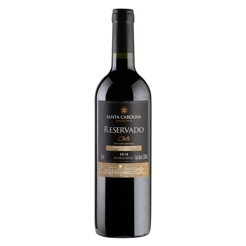Vinho-Chileno-Tinto-Meio-Seco-Reservado-Santa-Carolina-Cabernet-Sauvignon-Carmenere-750ml