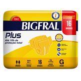 Fralda Descartável Adulto Bigfral Plus G com 16 Unidades Embalagem Econômica