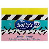 Lenço de Papel Folha Dupla Elite Softy's Caixa 100 Unidades