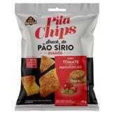 Snack de Pão Sírio Tomate com Manjericão Pita Pacote 45g