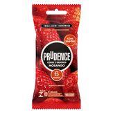 Preservativo Masculino Lubrificado Morango Cores e Sabores Prudence Pacote 6 Unidades