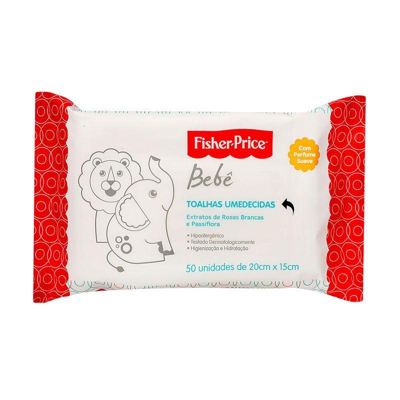 Lencos-Umedecidos-com-Perfume-da-Fisher-Price-50-unidades