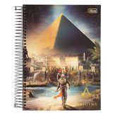 Caderno Capa Dura Universitário Assassin's Creed Origins 10 Matérias 200 Folhas Tilibra