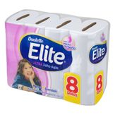 Papel Higiênico Ultra Folha Dupla Dualette Elite Pacote 8 Unidades