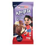 Bolinho Chocolate Recheio Baunilha Adoleta Seven Boys Pacote 70g