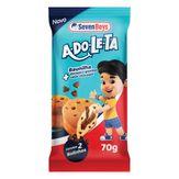 Bolinho Baunilha com Chocolate Adoleta Seven Boys Pacote 70g