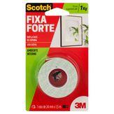Fita Dupla Face de Espuma Scotch Fixa Forte 3M Cartela 24mmx1,5m 1 Unidade