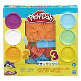 Kit Massinha Números Play Doh Caixa 6 Unidades