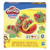 Conjunto de Massas de Modelar Criações na Cozinha Play-Doh Caixa 4 Unidades