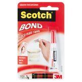 Adesivo Instantâneo Flexível Multiuso Scoth Bond Bisnaga 3g