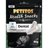Petisco para Cães Health Snacks Limpeza Dental Petitos Sachê 85g Novo!