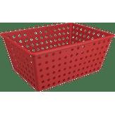 Cesta Organizador One Grande Vermelho 28,8x19,1x12,3cm Brinox