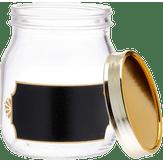 Pote de Vidro Style Lousa com Tampa Metalizada Ruvolo 1,15l