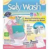 Kit Bolsa Protetora para Lava Roupas Soly Wash Baby Pacote 3 Unidades Novo