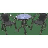 Conjunto Bistrô Mosaico Vidro 1 Mesa com 2 Cadeiras