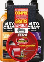 Kit-1-Lava-Autos-Autocraft-500ml---1-Limpa-Pneus-Autocraft-500ml---1-Cera-Tradicional-200g-Proauto-Gratis-1-Esponja