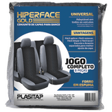 Capa para Banco de Carro Hiperface Gold Universal Plasitap Pacote 8 Unidades