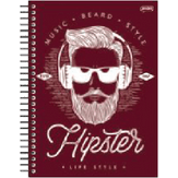 Caderno Universitário Hipster 10 Matérias Bignardi 1 Unidade