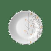 Prato Fundo de Cerâmica Decorado 21cm Garden Corona 1 Unidade