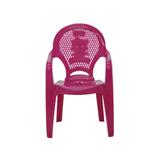 Cadeira Infantil de Plástico Rosa até 40kg Tramontina 1 Unidade