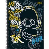 Caderno Universitário Capa Dura 1 Matéria 80 Folhas Simpsons Tilibra 1 Unidade