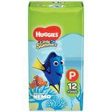 Fralda Descartável Infantil Praia & Piscina Huggies Little Swimmers P com 12 Unidades