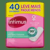 Protetor Diário sem Abas Antibacteriano Intimus Pacote 40 Unidades Leve Mais Pague Menos