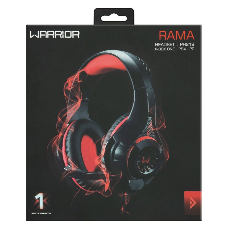 Headset-Gamer-P3---Cabo-USB-Stereo-Adaptador-P2-Preto-e-Vermelho-com-LED-PH219-Warrior-Rama-Multilaser