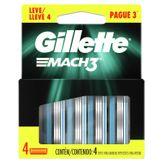 Carga de Aparelho para Barbear Mach3 Gillette Cartela 4 Unidades Leve 4 Pague 3