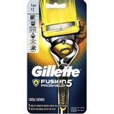 Aparelho Depilatório Descartável Fusion Proshield Gillette Cartela 1 Unidade + 1 Cartucho