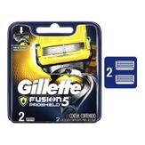 Kit Carga de Aparelho para Barbear Fusion Proshield Gillette Cartela 2 Unidades