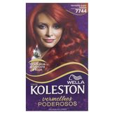 Kit Coloração Creme 7744 Vermelho Super Intenso Vermelhos Poderosos Koleston Wella