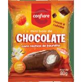 Mini Bolo de Chocolate com Baunilha Confiare Pacote 80g
