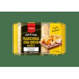 Pão de Alho Tradicional com Queijo Tipo Baguete Confiare Pacote 300g