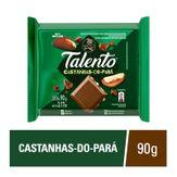 Barra de Chocolate ao Leite com Castanha-do-Pará Garoto Talento 90g