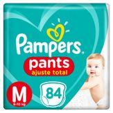 Fralda Descartável Infantil Pampers Pants Ajuste Total Tamanho M com 84 Unidades