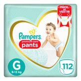 Fralda Descartável Infantil Pampers Pants Premium Care G com 112 Unidades