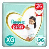 Fralda Descartável Infantil Pampers Pants Premium Care XG com 96 Unidades