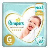 Fralda Descartável Infantil Pampers Premium Care G com 68 Unidades