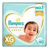Fralda Descartável Infantil Pampers Premium Care XG com 60 Unidades