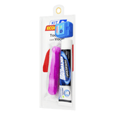 Kit Escova Dental + Fio Dental Expansive  25m + Gel Dental Menta Extreme Ice 50g Dentalclean Viagem Econômico
