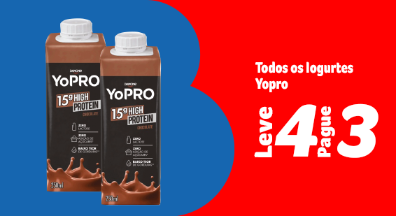 Barato do BIG - Toda a categoria YoPro leve 4 Pague 3 - Destaque - 21.09
